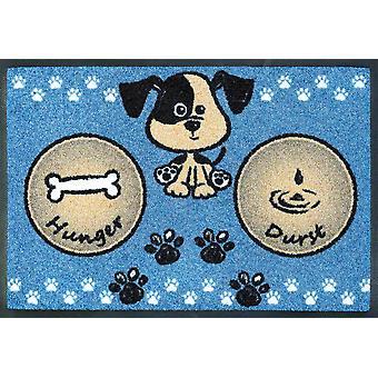 pranie + sucha zmywalna miska posiłek pies niebieski 40 x 60 cm