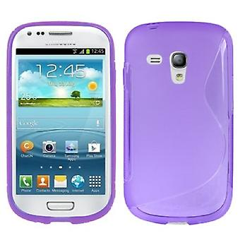 Beschermhoes TPU case cover voor mobiele Samsung Galaxy S3 mini i8190 / i8195 / i8200 paars