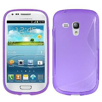Schutzhülle TPU Case Hülle für Handy Samsung Galaxy S3 mini i8190 / i8195 / i8200 lila