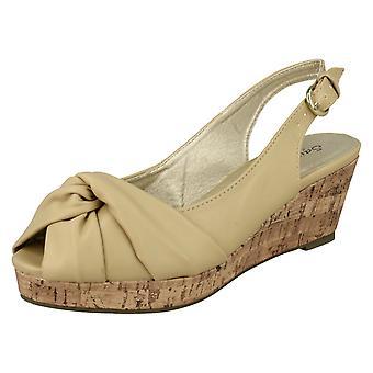Mesdames Savannah Wedge talon sandales F10023
