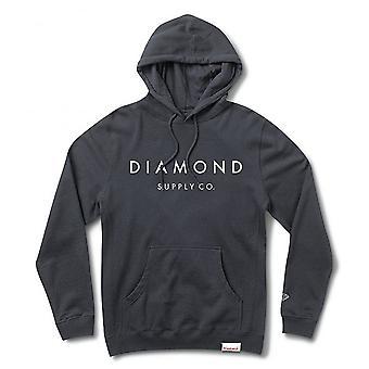 Diamond Supply Co Stone Cut Pullover Hoodie Navy