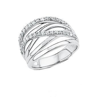 s. Oliver gioiello signore anello argento zirconi in argento SO1304
