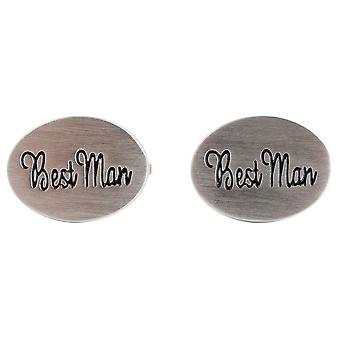 Zennor beste Man bruiloft Manchetknopen - zilver