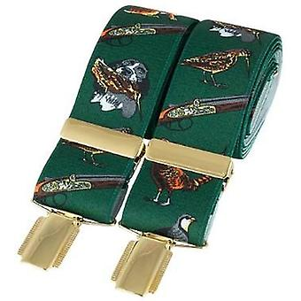 デビッド ・ ヴァン ・ ハーゲン古典的な狩猟ファッション ブレース - グリーン