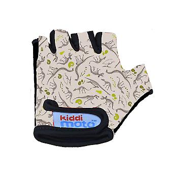 Kiddimoto Cycling Gloves Fossil Dinosaur