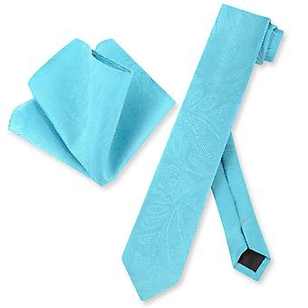 Vesuvio Napoli maigre cravate Paisley Mens cravate & mouchoir