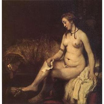 Bathsheba en su baño, Rembrandt Peale, 50x50cm