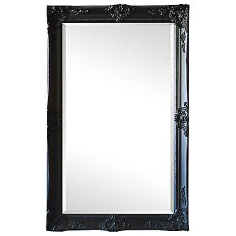Mirror in black, outer dimensions 59x109 cm France motif