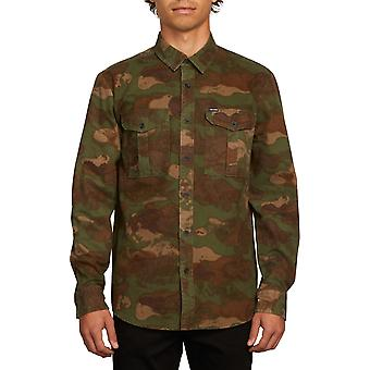 Volcom Huckster Camicia a maniche lunghe in esercito