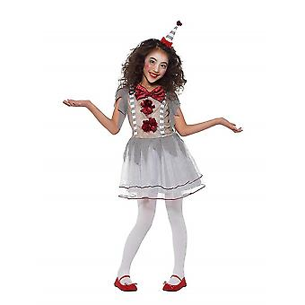Vintage klovnin tyttö puku karnevaali circus ring tyttö puku