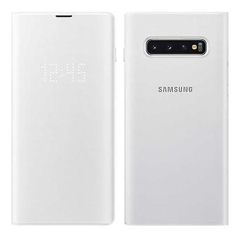 Couverture de vue Samsung LED blanche pour Samsung Galaxy S10 G973F EF NG973PWEGWW sac protecteur housse