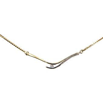 Bicolor gold necklace with diamond