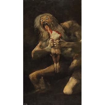 שבתאי טורף את ילדיו, פרנסיסקו גויה, 60x33cm