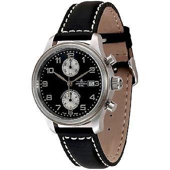 שעון של זנו-Watch NC הכרונוגרף רטרו Bicompax 9557BVD-d1