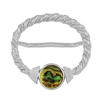 Evig samling Maxi gull Paua Shell store sølv skjerf Ring
