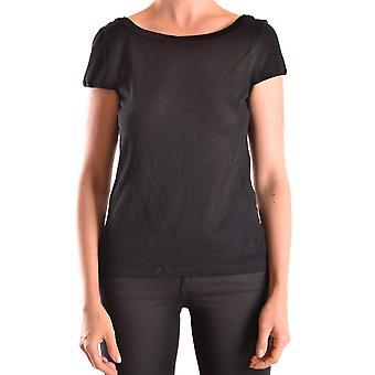 Escada Ezbc279001 Mujer's Camiseta de algodón negro