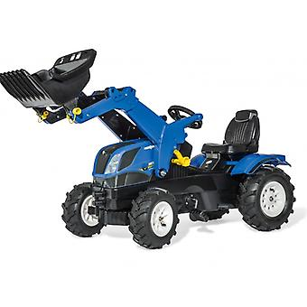 Rolly Toys New Holland T7 Pedal Tractor With Frontloader and Pneumatic Tyres