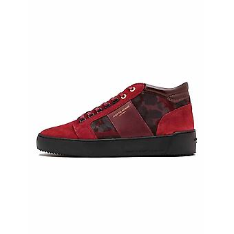 Android Homme  Red Camouflage Suede Propulsion Mid Sneaker