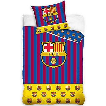 FC Barcelona Yellow Bar Single Cotton Duvet Cover Set