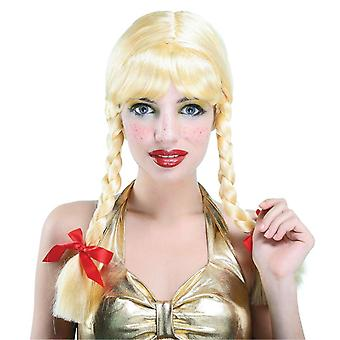 Bristol Novelty Womens/Ladies Long Plaited Pigtails Wig