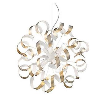 6 Light Ribbon Ceiling Pendant Gold