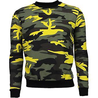 Color Army Print-sweatshirt-yellow/Black