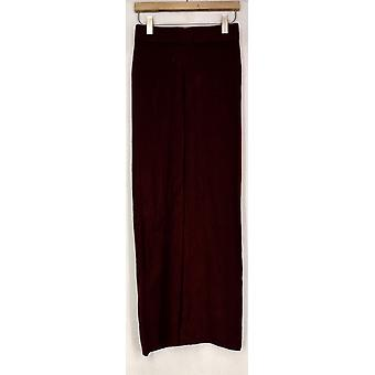 Wendy Williams Pants Pull On Drawstring Waist Wide Leg Red Womens 510-175