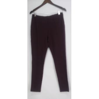 H by Holston Pull On Ponte Knit Seam Detail Ankle Pants Purple A269551