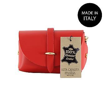 Läder Pochette tillverkad i Italien 10024