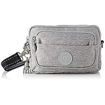 Kipling Multiple - Grey Women's Shoulder Bags (Chalk Grey) 20x13x7.5 cm (B x H T)