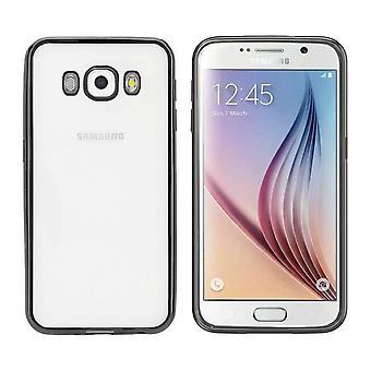 Samsung J5 2016 Case Black - Zderzak Backcover Clear