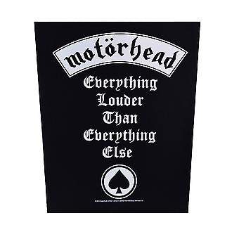 Motorhead Everything Louder Back Patch