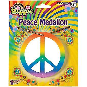 Medallón de paz arco iris
