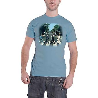 The Beatles T Shirt London Abbey Road Iconic Image Official Mens Blue