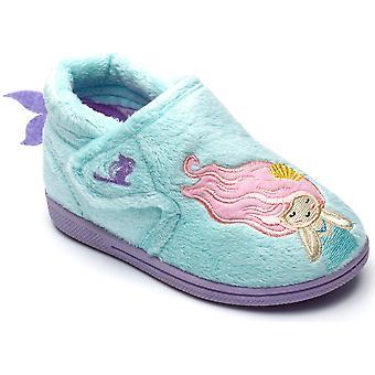 Chipmunks Girls Maisie Slippers Aqua