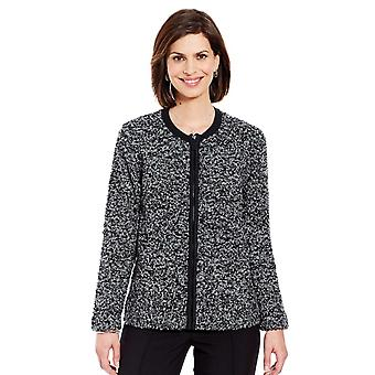 Amber Ladies Boucle Zip Cardigan With Wool