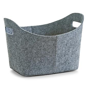 Oval Felt Basket - 37 X 28 X 25 Cm - For Magazines Decoration Toys Storage Crafts Gift Display Sundry
