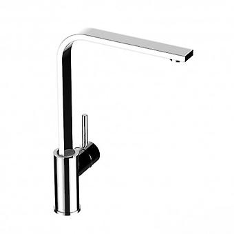 Kitchen Single-lever Sink Mixer With High Flat Swivel Spout - 56