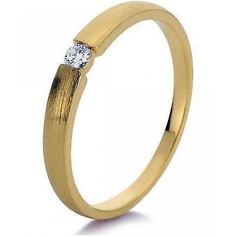 Anneau de diamant - 14K 585 Or Jaune - 0.06 ct.