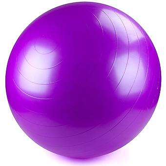 75cm Purple Exercise Ball con pompa a piedi