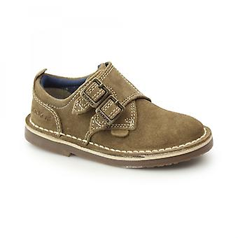 Kickers Adlar Monk Dstrap Kids Suede Monkstrap Chaussures Light Tan
