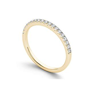 Igi certifierad fast 14k gult guld 1/4 ct tdw diamant kvinnor & apos; s band