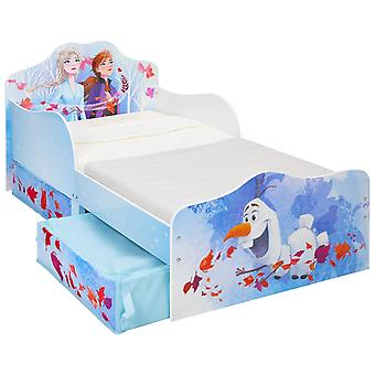 Wooden bed With Frozen storage 2