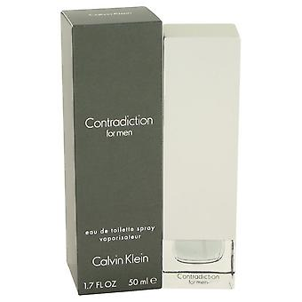 Contradictie eau de toilette spray door calvin klein 401977 50 ml