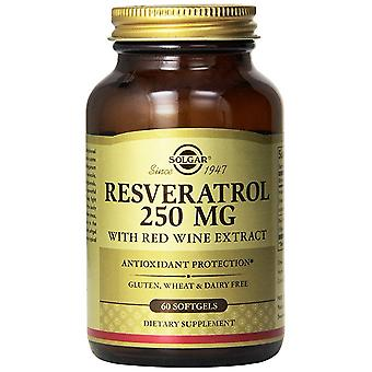 Solgar Resveratrol 250 mg Red Wine Extract Softgels 60 Ct