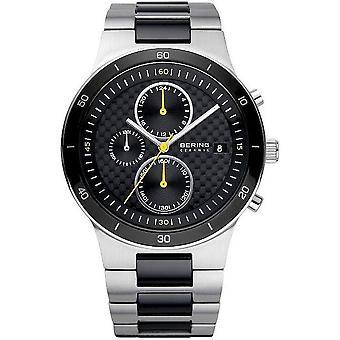 Bering relojes para hombre reloj cronógrafo cerámica 33341-749