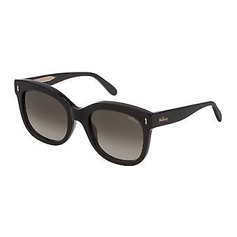 التوت شارلوت SML001 0BLK الأسود الأسود الأسود / الأخضر التدرج البني النظارات الشمسية