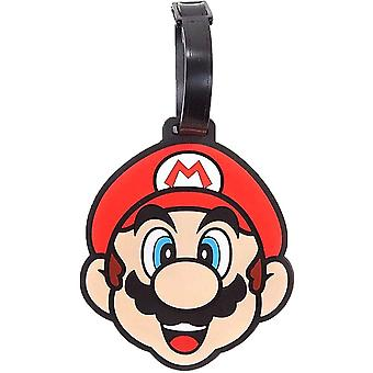 Super Mario Character Rubber Luggage Tag