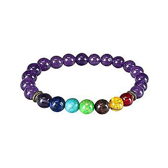 Bracelet de chakra avec des perles pourpres