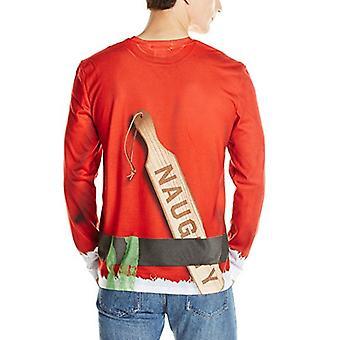 Faux real miehet's 3D valokuva-realistinen ruma joulupusero pitkähihainen t-paita...